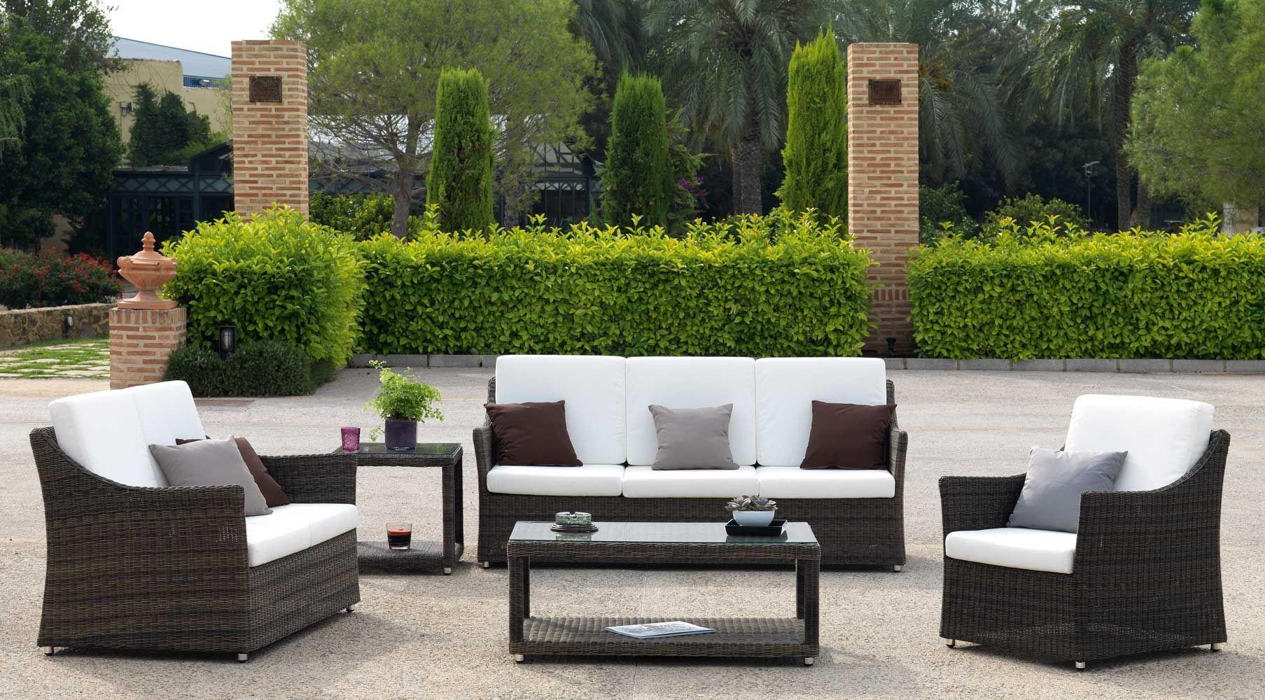 Muebles de rattan sintetico para jardin sofas de rattan for Muebles de jardin rattan